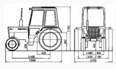 Габариты трактора мтз 80