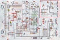 Схема электрооборудования зил 131 цветная