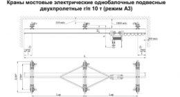 Кран балка 3т технические характеристики